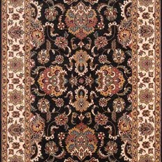 Persian Hand-Serged Rug Charcoal 8'x8' Round