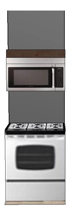 over range microwave without a cabinet