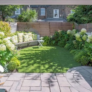 75 Most Popular Small Garden with Natural Stone Paving ... on Modern Back Garden Ideas id=44688