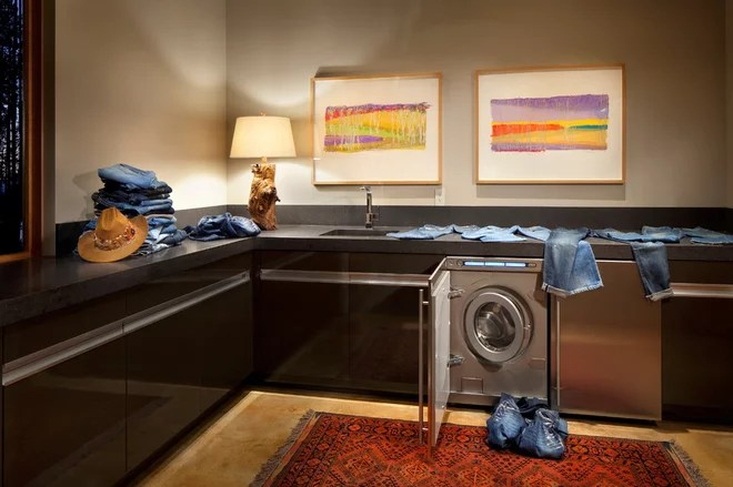 Contemporary Laundry Room by CTA Architects Engineers
