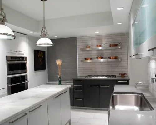 White Marble Countertops Houzz
