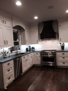 what color sink with black granite