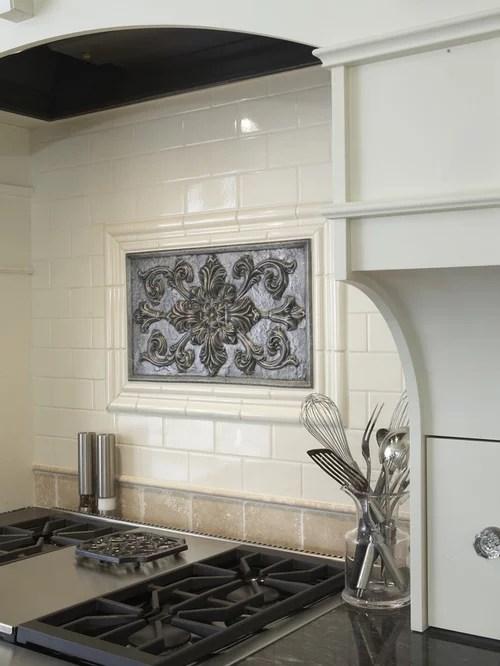 Medallion Backsplash Home Design Ideas Pictures Remodel