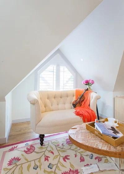 Farmhouse Living Room by H2 Design Studio