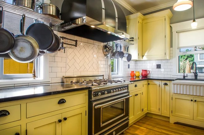 Midcentury Kitchen by Pradhan Studios Photography