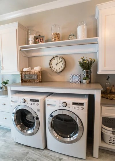 Transitional Laundry Room by Artisan Design Studio
