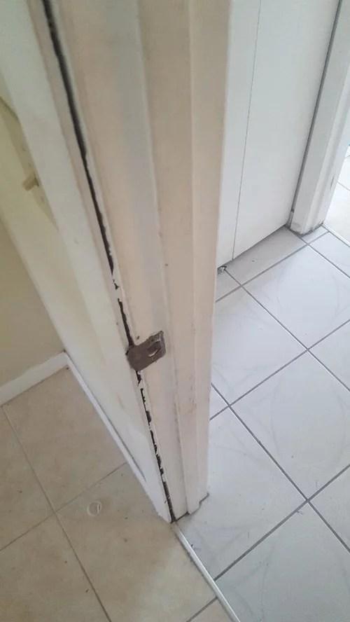 trim separating from door