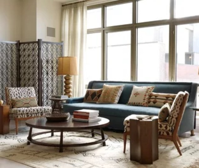 Inspiration For A Mid Sized Asian Formal And Open Concept Light Wood Floor Living Room