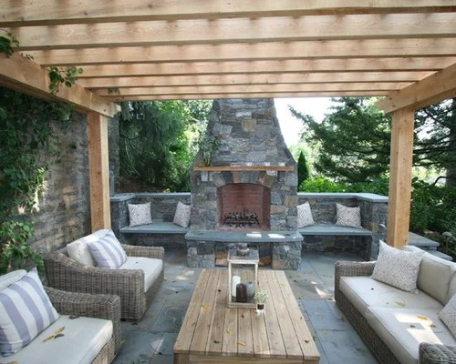 Outdoor Stone Fireplace Home Design Ideas Pictures