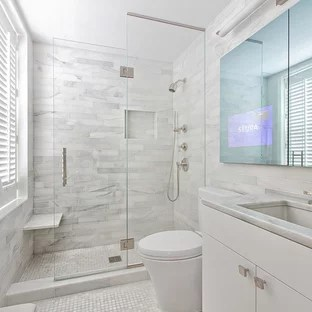 75 Beautiful Contemporary Bathroom Pictures & Ideas - June ... on Small Bathroom Ideas 2020 id=88965