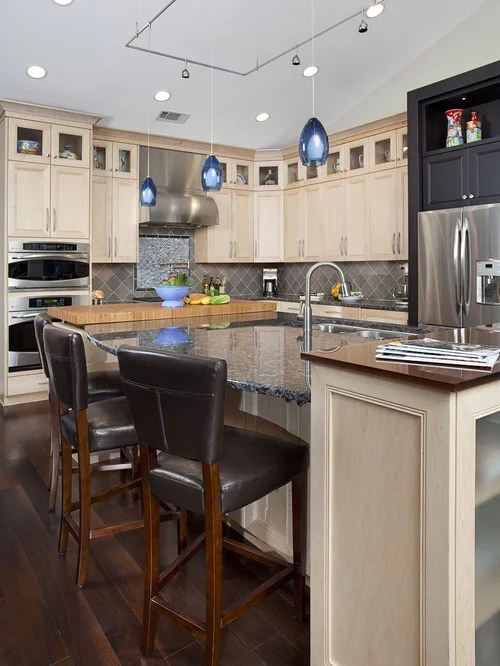 Light Cabinets Dark Countertop Ideas, Pictures, Remodel ... on Backsplash Ideas For Dark Cabinets And Light Countertops  id=33642