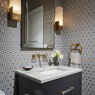 Houzz 50 Best Transitional Powder Room Pictures