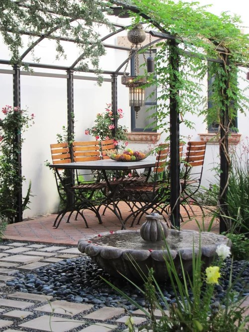 Wrought Iron Pergola Home Design Ideas Pictures Remodel