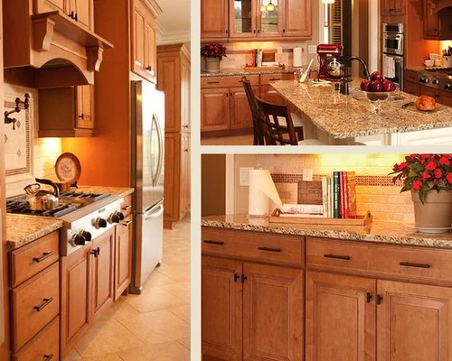 Granite Countertops Maple Cabinets | Houzz on Kitchen Countertops With Maple Cabinets  id=27599