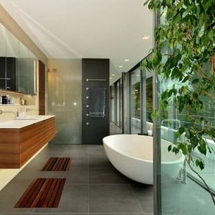 75 beautiful green slate floor bathroom