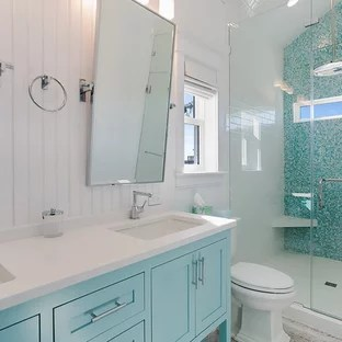 coastal vinyl floor bathroom