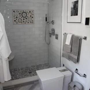 grey shower tile houzz