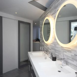 mirror with integrated lighting houzz