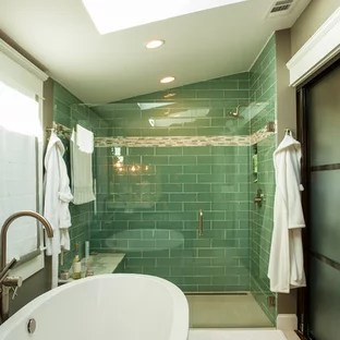 green glass tile houzz