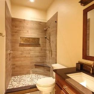 75 beautiful orange brown tile bathroom