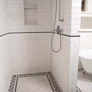 subway tile shower houzz