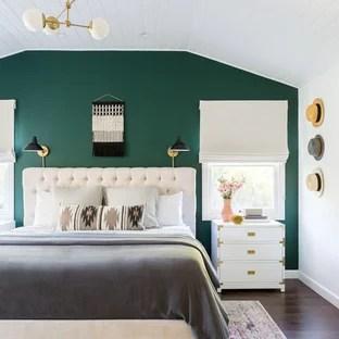 75 Beautiful Turquoise Master Bedroom Ideas & Designs ...