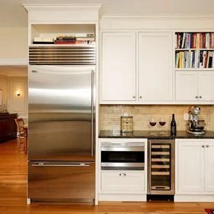 microwave beside fridge ideas photos