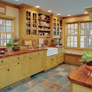 75 Beautiful Kitchen With Copper Countertops And Yellow Backsplash Pictures Ideas July 2021 Houzz