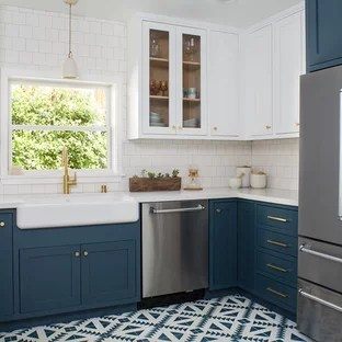 75 beautiful craftsman kitchen with
