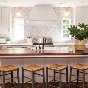 kitchen with terra cotta backsplash