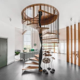 75 Beautiful Spiral Staircase Pictures Ideas September 2020   Spiral Staircase Into Basement   Stair Railing   Attic Stairs   Stair Treads   Stairway   Staircase Ideas