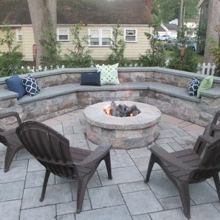 75 beautiful gray concrete paver patio