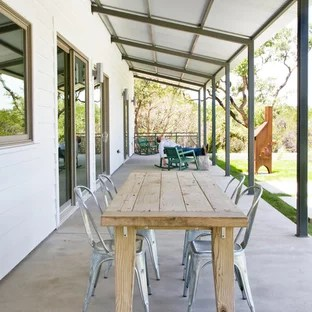 corrugated metal roof porch ideas
