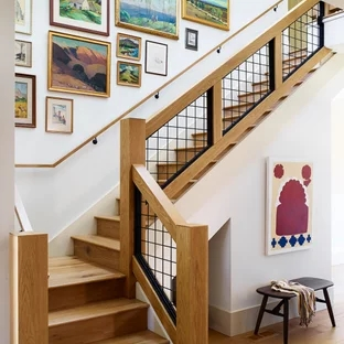 75 Beautiful Staircase Pictures Ideas September 2020 Houzz | House Interior Steps Design | Living Room | White | Architecture | Small | Low Cost