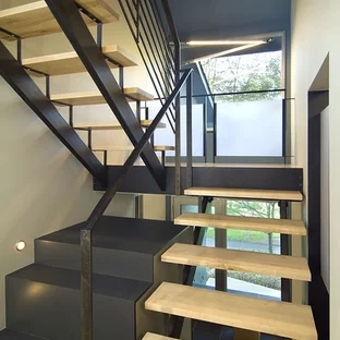 Exterior Front Elevation Staircase Houzz | Front Stair House Design | Unique | Simple | Veranda Stair | Low Cost 2 Bhk House | Front Jina
