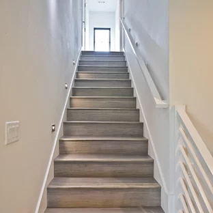 75 Beautiful Staircase Pictures Ideas September 2020 Houzz | Glass Staircase Panels Near Me | Modern Staircase Railing | Tempered Glass | Wood | Stair Balustrade | Stair Case