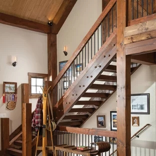 75 Beautiful Rustic Staircase Pictures Ideas September 2020   Rustic Handrails For Stairs   Basement   Wooden   Banister   Metal   Deck