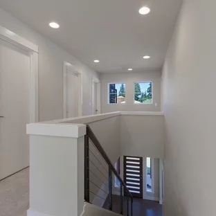 Two Story House Staircase Ideas Photos Houzz   Double Staircase House Plans   12 Room   Mansion   Design   Small House   Bedroom