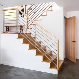 75 Beautiful Mid Century Modern U Shaped Staircase Pictures   Modern U Shaped Staircase   Design   Floating   Interior   Amazing Modern   Oval Shaped