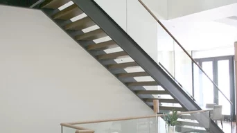 Best 15 Stair And Railing Contractors In Chicago Il Houzz   Glass Balustrade Stairs Near Me   Railing Systems   Frameless Glass   Deck Railing   Handrails   Metal