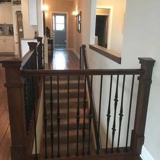 75 Beautiful Craftsman Staircase Pictures Ideas September | Metal Railing Designs Stairs | Rot Iron Staircase | Step | Luxury | Creative Outdoor Stair | Curved Railing