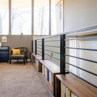 75 Beautiful Mid Century Modern Staircase Pictures Ideas   Mid Century Modern Handrail   Porch   Interior   Art Deco   Wooden   Railing
