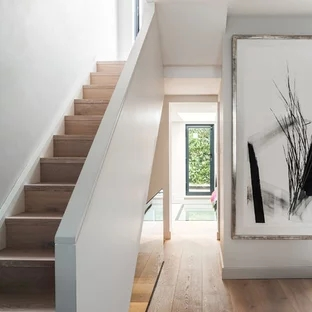 Modern Minimalist Staircase Ideas Photos Houzz   Modern Stair Railings Interior   Brushed Nickel   Outdoor Stair   Wrought Iron   Balcony   Wall Mounted