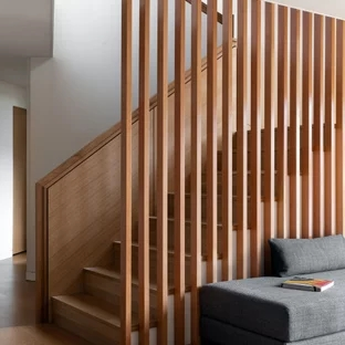 75 Beautiful Mid Century Modern Staircase Pictures Ideas | Mid Century Modern Handrail | Cantilevered Spiral Stair | Art Deco | Modern Walnut | Tree Branch | Railing