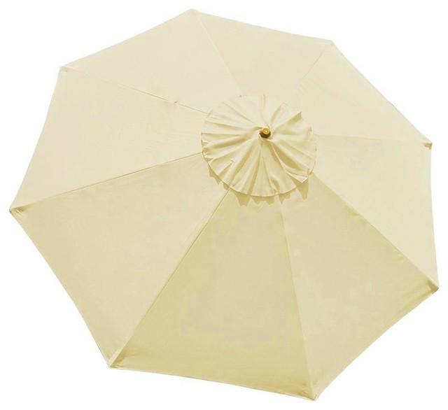 8 rib umbrella replacement canopy cover beige