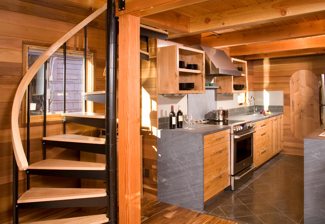 Houseboat A Seattle Floating Home Renovation Rustic Kitchen Seattle By MLB Design Group