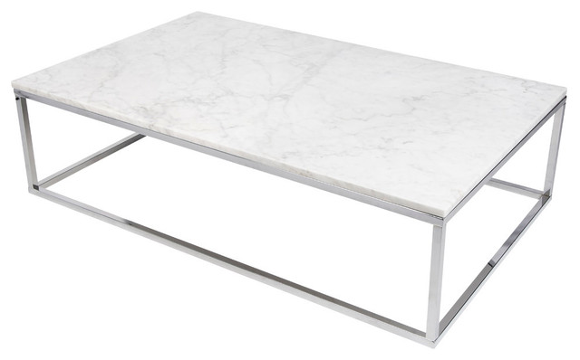 prairie 47 x30 coffee table with marble top