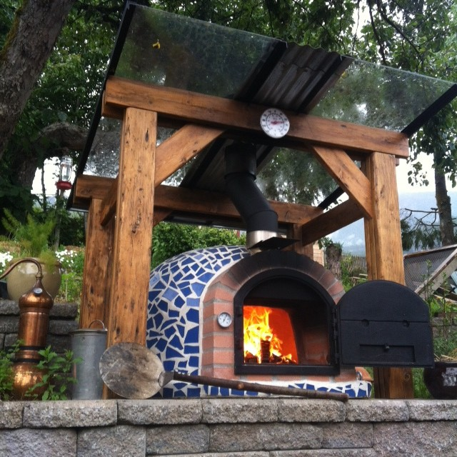 Outdoor Pizza Ovens Mosaic Tiles / Terracotta - Rustic ... on Outdoor Patio With Pizza Oven  id=93928