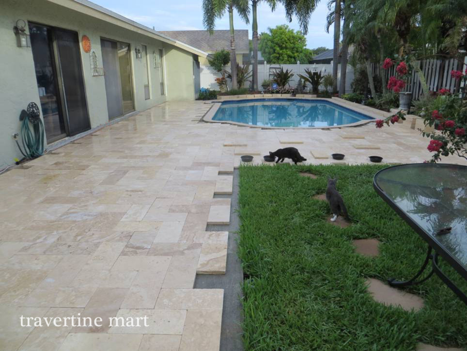 Ivory Travertine Patio Tiles and Pavers - Traditional ... on Travertine Patio Ideas id=70952