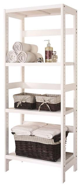 3-shelf wooden bathroom towel storage rack stand organizer unit